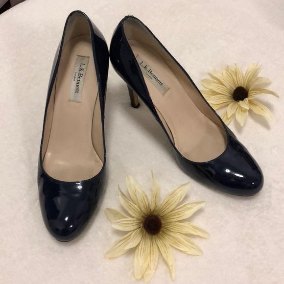5628414f50da LK Bennett Shoes - L.K.Bennett Stila Pumps Navy Blue (Patent Leather)